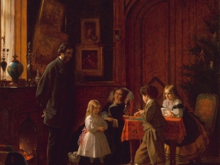 Christmas-Time, The Blodgett Family, 1864