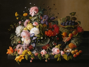 Still Life: Flowers and Fruit, 1850–55