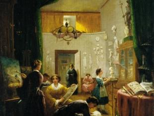 Louis Lang, Women's Art Class, ca. 1868