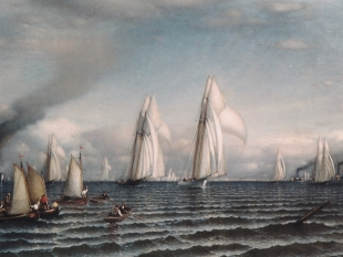 Finish—First International Race for America's Cup, 1870