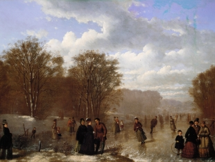 Skating on the Wissahickon, 1875