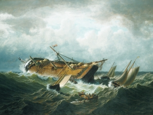 Shipwreck off Nantucket, circa 1860-61