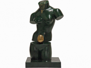 "Space Venus, 1977 / 1984, Bronze, Green Patina, H 25"" x W 13"" x D 14"", Signed 'Dalí' on the Base"