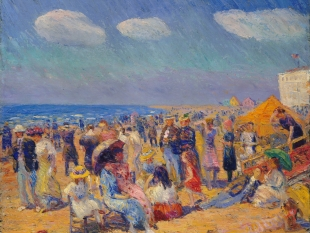 Crowd at the Seashore, ca. 1910