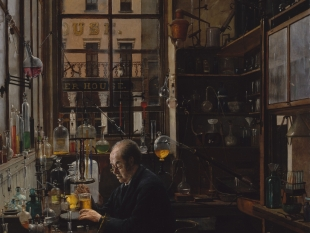 HENRY ALEXANDER, In the Laboratory, ca. 1885–87, Oil Painting