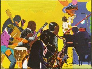 Romare Bearden, Out Chorus, Screenprint in Colors, 1978-79