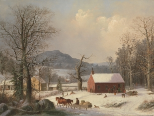 Red School House (Country Scene), 1858