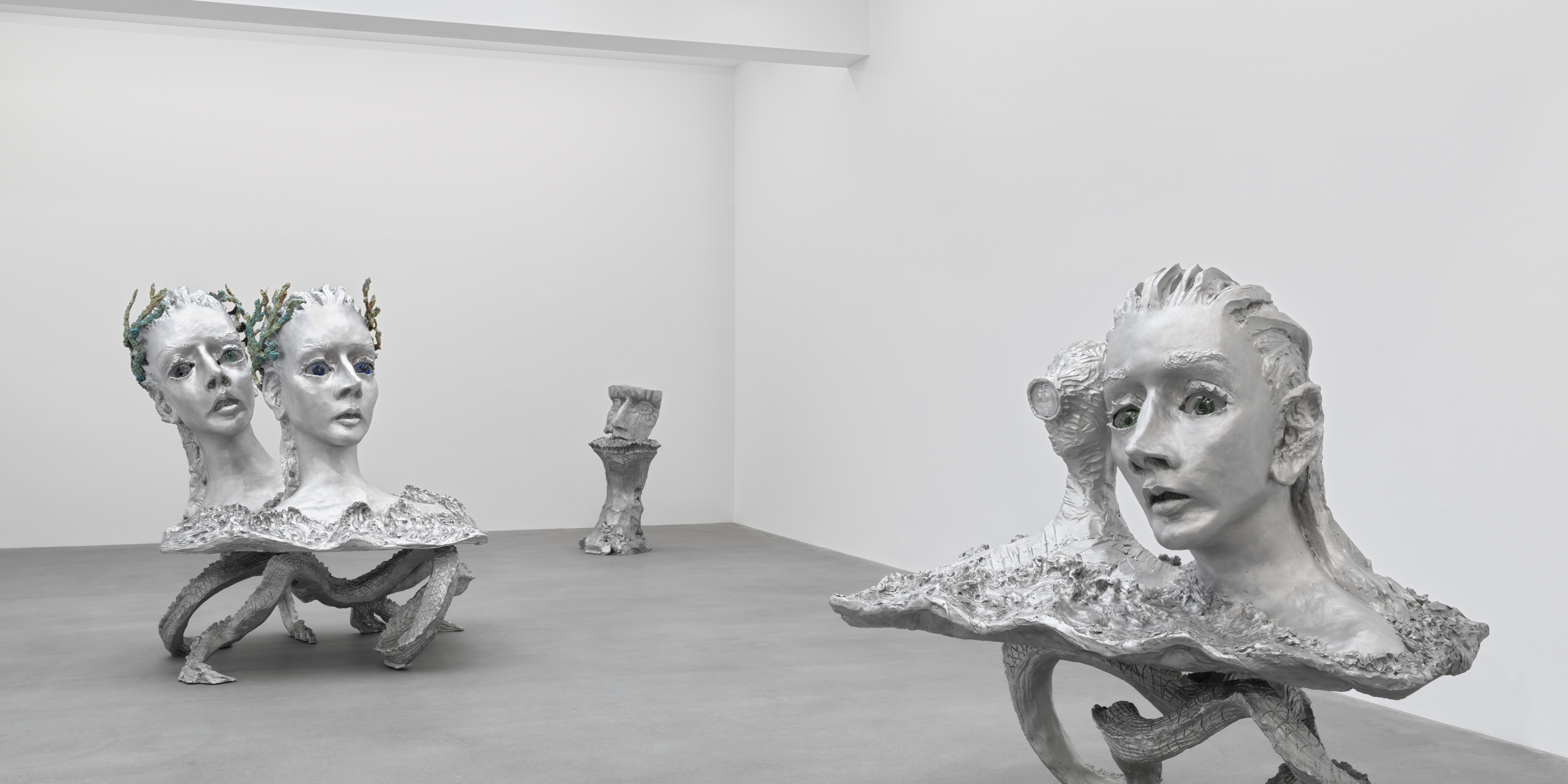 Installation view of sculptures by Jean-Marie Appriou