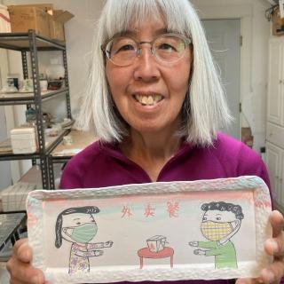 Beth Lo's Covid Plates Make Local News!