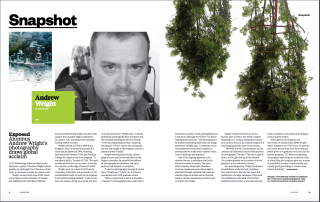 ANDREW WRIGHT IN THE U OF T MISSISSAUGA MAGAZINE