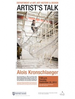 Alois Kronschlarger Artist Talk