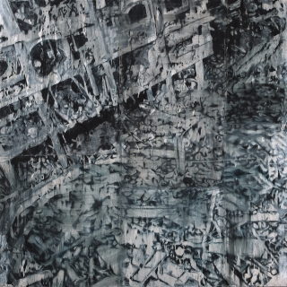 Jorge Tacla, Identidad Oculta 39, 2013. Oil and cold wax on canvas. 100 x 100 inches.