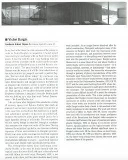Victor Burgin at Fundació Antoni Tàpies