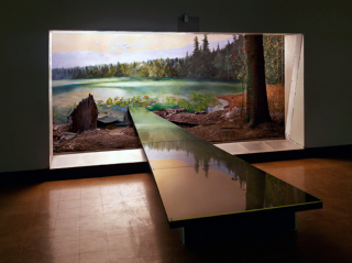 Museum's Wildlife Exhibits Extend Into Observation Area