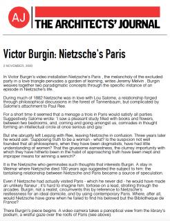 Victor Burgin: Nietzsche's Paris