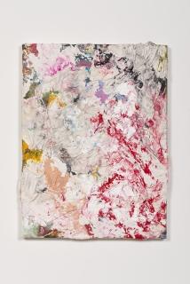 Derek Paul Boyle, Plaster cast trash painting (trash bin behind Sanamlaung), 2014