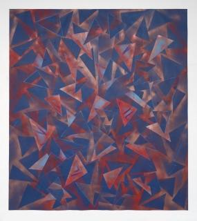 Lecia Dole-Recio, Untitled (bl.ppr.brnz.spry.bl.Ins), 2014