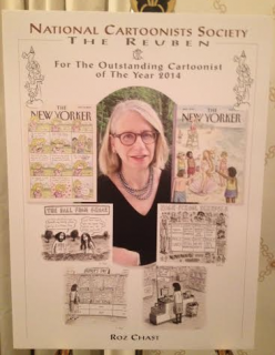 Roz Chast wins the 2015 Reubens Award for Outstanding Cartoonist of the Year
