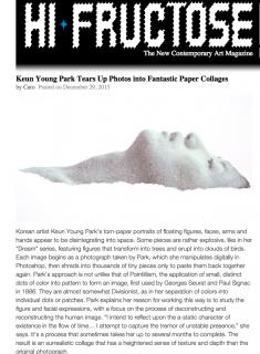 Keun Young Park featured in Hi Fructose Magazine