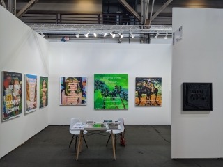 Nicholas Cueva, Robert Hodge, and David Kramer at UNTITLED SF 2020