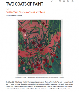 Emilia Olsen featured in Two Coats of Paint