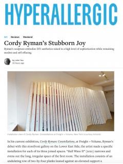 Cordy Ryman's Stubborn Joy