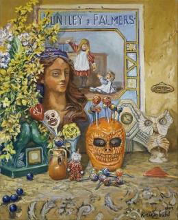 """Jürg Kreienbühl Nature morte """"Palmers"""" 2001 painting peinture"""