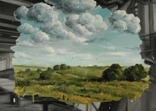 Demiak Escapism I Hrabove 2014 painting peinture