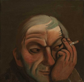 Ivan Lubennikov Loubennikov L'Homme à la Belomor 2016 painting peinture