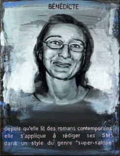 Pierre Lamalattie Bénédicte 2014 curriculum vitae painting peinture