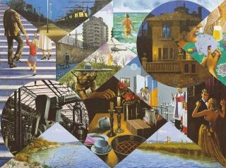 Sergio Ceccotti La vita illustrata 1988 painting peinture