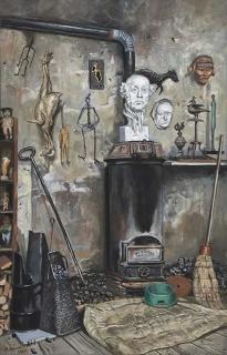 Jürg Kreienbühl Atelier du sculpteur 2000 peinture painting
