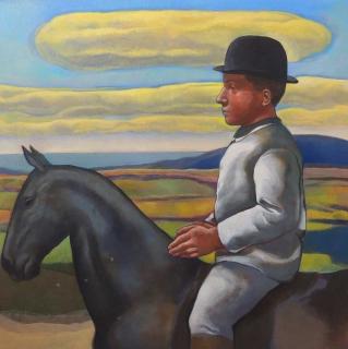 Monique de Roux Le cavalier 2015 painting peinture