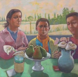 Monique de Roux La famille 2017 painting peinture