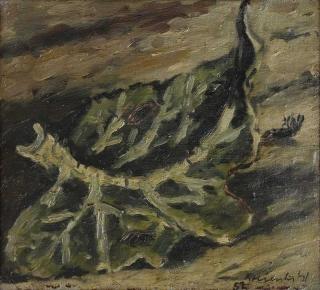 Jürg Kreienbühl Feuille 1952 1954 painting peinture