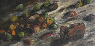 Jürg Kreienbühl Fruits pourris et boite de conserve rouillée 1952 1954 painting peinture