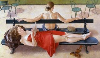 Francine Van Hove L'Ombre des chaises 2000 painting peinture