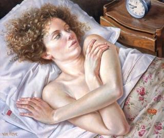 Francine Van Hove La Lettre sous l'oreiller 2015 painting peinture