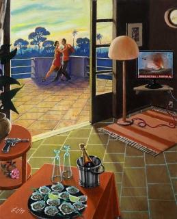 Sergio Ceccotti L'ora del tango 2017 painting peinture