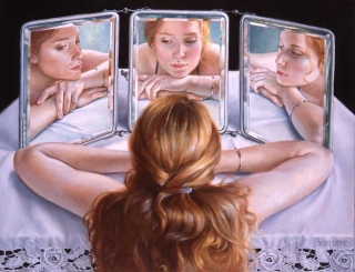 Francine Van Hove Blandine au tryptique 2018 painting peinture