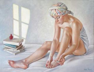 Francine Van Hove Un peu de rouge 2011 painting peinture