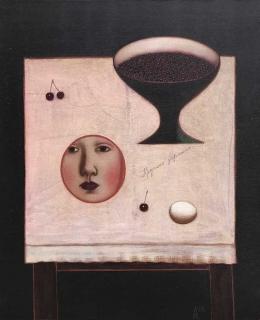 Ivan Lubennikov Loubennikov Le Miroir rond 1999 painting peinture