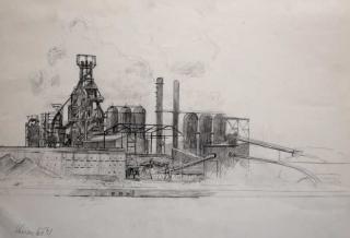 Jürg Kreienbühl Raffinerie drawing dessin