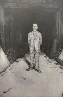 Jürg Kreienbühl L'homme au rat 1981 1995 etching gravure