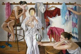 Francine Van Hove Les Trois miroirs 2004 painting peinture