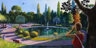 Sergio Ceccotti Solstizio d'estate 2017 painting peinture