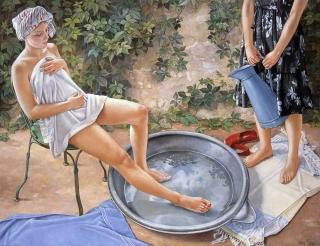 Francine Van Hove Les Pieds dans les nuages 2006 painting peinture