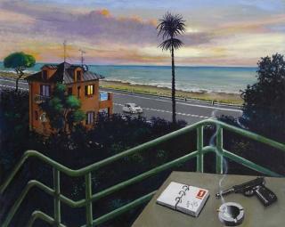 Sergio Ceccotti Sguardo sul litorale 2013 painting peinture