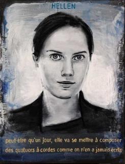 Pierre Lamalattie Hellen 2014 curriculum vitae painting peinture