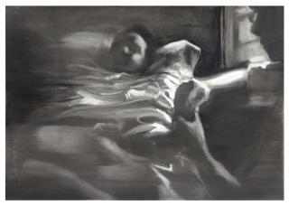 María Dávila Sin título 2017 peinture painting série Anónimo